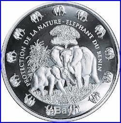 10.000 Francs Benin 2016 Elephant 1 Kilo Fine Silver Coin 0.999