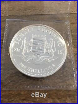 10 x 2015 Somalia Elephant Silver Coins