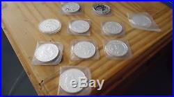 10x1 Oz Silber 999, Konvolut Somalia Elephant, Lunar usw