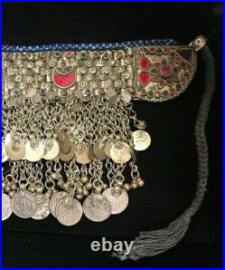 16 Silver And Coins, Kuchi Choker Necklace. Tribal Jewelery