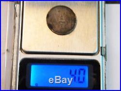 1860 Thailand Fuang 1/4 Baht Silver Coin King Rama IV Elephant 2 STAR VERY RARE