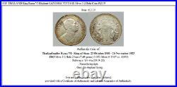 1919 THAILAND King Rama VI Elephant GANESHA VINTAGE Silver 1/2 Baht Coin i92119
