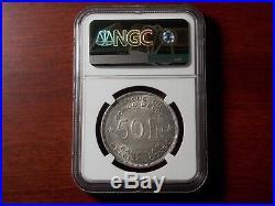 1944 Belgian Congo Elephant 50 Francs silver coin NGC AU