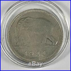 1944 Belgian Congo Large Elephant 50 Francs Coin Bank Van Belgisch Congo