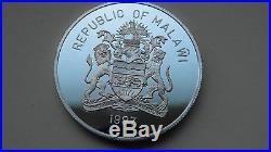 1997 Malawi 5 Kwacha Elephant Silver Proof Coin