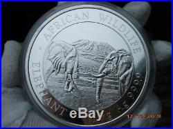 1 Kilo Silber 9999 Somalia Elephant 2020 Originalkapsel KG Silver 1000g