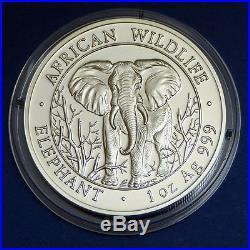 1 oz Silver Somalia Elephant Elefant Somalie 2004 Ag Zilver Silber + capsule