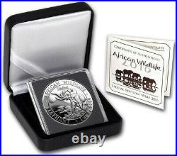 1 oz Somalia Elephant Privy Wmf Proof 2016 1oz Fine Silver 9999 BE Bullion Coin