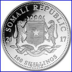 1 oz Somalia Elephant Privy Wmf Proof 2017 1oz Fine Silver 9999 BE Bullion Coin