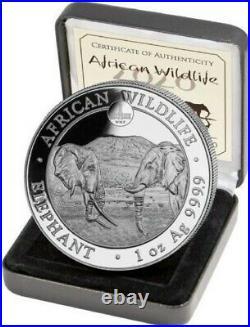 1 oz Somalia Elephant Privy Wmf Proof 2020 1oz Fine Silver 9999 BE Bullion Coin