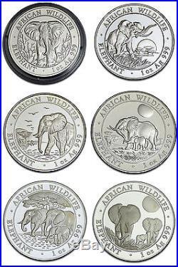 1oz solid silver Somalia Elefant Elephant Somalie / Argent / Silber 2004-2014