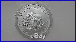 2000 Zambia 5000 Kwacha Elephant Silver MATTE Finish coin