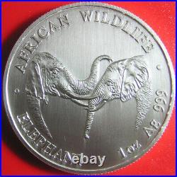 2002 ZAMBIA 5000 KWACHA 1oz SILVER MATTE AFRICAN ELEPHANT WILDLIFE RARE COIN