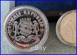 2004 African Wildlife Somalia Elephant set 3.75 ounce silver 4 coins