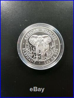 2004 Somali African Elephant 1 oz Silver Coin. 999 Silver Rare