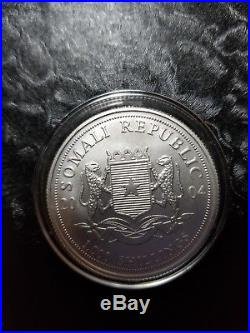2004 Somalia Elephant 1oz. 999 silver 1000 Shillings