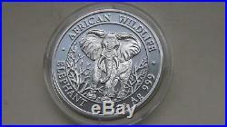 2004 Somalia Elephant silver BU coin