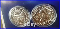 2005 Somalia Elephant 1 Oz Silver Coin Key To African Wildlife Series Somali