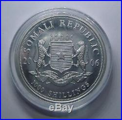 2006 Somali Elephant African Wildlife. 999 Silver Coin! Great investment
