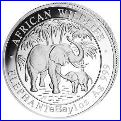 2007 1 oz Silver Somalia Elephant Coin BU Condition! PLACED IN AIRTIGHT CAPSULE