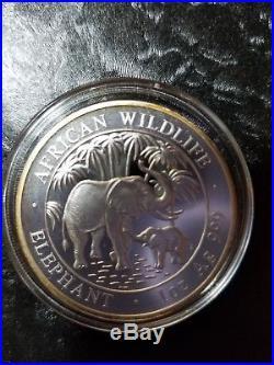 2007 Somalia Elephant 1oz. 999 silverSome