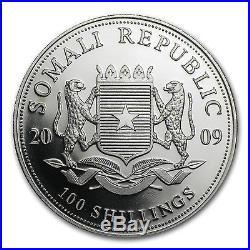 2009 1 oz Silver Somalian African Elephant