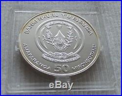 2009 Rwanda Elephant Privy Mark f12 1 oz silver coin in Fabulous capsule Elefant