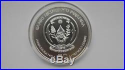 2009 Rwanda Elephant Silver BU Coin