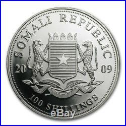 2009 Somalia 1 oz Silver Elephant