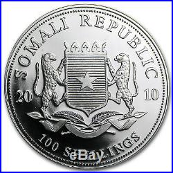 2010 Somalia 1 oz Silver Elephant BU SKU #61390