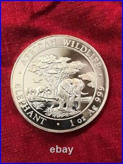 2012 Somali republic 1oz elephant. 999
