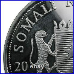 2012 Somalia 1 kilo Ag African Elephant Dragon Privy (Scruffy) SKU#169354