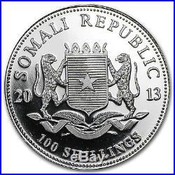 2013 1 oz Silver Somalian African Elephant Coin SKU #75425