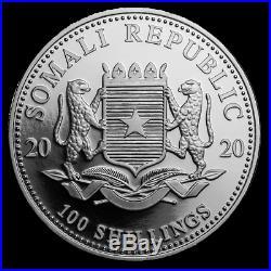2013 2014 2015 2016 2017 2018 2019 2020 Somalia Elephants 8 Silver 1oz Coins