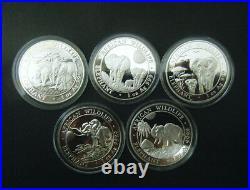 2013 2014 2015 2016 2017 Somalian African Elephant 1oz Silver Bullion Coin BU
