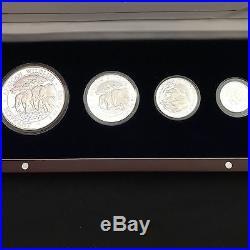 2013 Rare Bavarian Mint Somali Elephant series Prestige Silver Proof 4 coin set