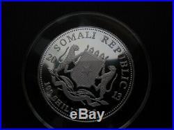2013 Somalia Elephant African Wildlife 1 Oz Colored Pure Silver BU Coin