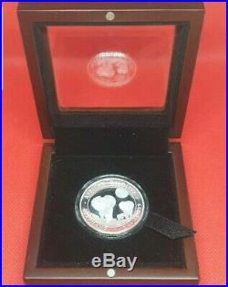 2014 1oz Silver Coin African Wildlife Somalian Elephant High Relief Proof