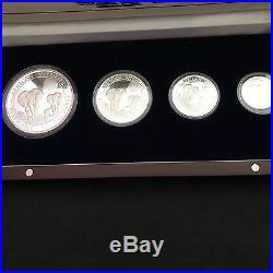 2014 Rare Bavarian Mint African Elephant Prestige Silver Proof 4 coin set