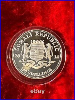 2014 Somali republic 1oz elephant. 999