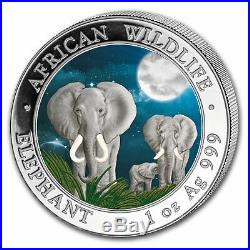 2014 Somalia 1 oz Silver Elephant (Colorized) SKU #79007