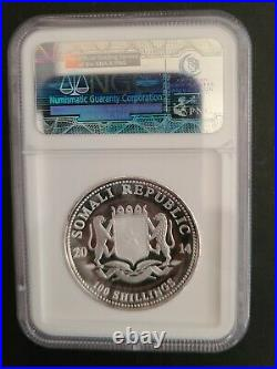 2014 Somalia African Wildlife High Relief Silver Elephant NGC PF70 ULTRA CAMEO