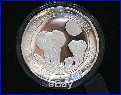 2014 Somalian Elephant 1 oz High Relief Silver Proof Coin with Box and COA