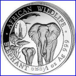 2015 1 oz Somalian Silver Elephant Coin (BU, ANA Chicago Privy, 2,100 Mintage)