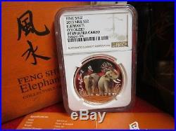 2015 Niue Feng Shui Elephants NGC PF PR 69 Silver 1 OZ Rare. 999 Silver Coin