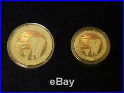 2015 SOMALIA AFRICAN WILDLIFE. 999 SILVER ELEPHANT COINS (4-COINS) With COA #L659