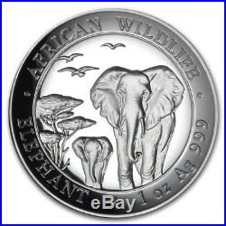 2015 Somali Elephant 1 oz. Silver Proof HIGH RELIEF African Series OGP & COA