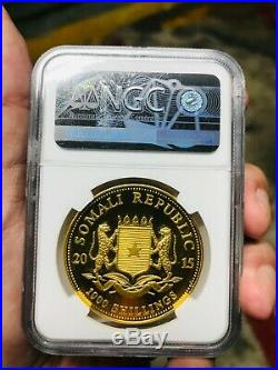 2015 Somalia Gold Elephant coin 1oz 999 silver MS69 NGC
