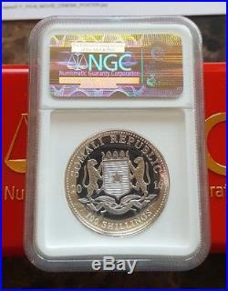 2016 High Relief Somalia African Wildlife Elephant 1oz Silver Coin NGC PF70 FR