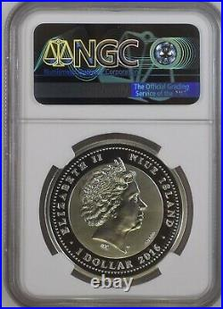 2016 Niue $1 Endangered Species Asian Elephant Ngc Pf70 Uc Silver Coin
